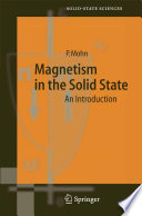 Magnetism In The Solid State book