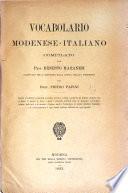 Vocabolario modenese italiano