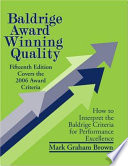 Baldrige Award Winning Quality   15th Edition