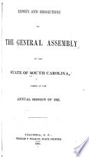 Reports and Resolutions of South Carolina to the General Assembly Book PDF