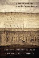 download ebook the lost world of scripture pdf epub