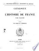 Catalogue de l'histoire de France