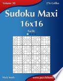 illustration Sudoku Maxi 16x16 - Facile - Volume 30 - 276 Grilles