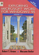 Exploring Microsoft Word for Windows 95  Version 7 0
