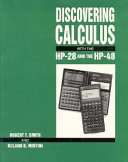 Discovering Calculus With The Hp 28 And The Hp 48