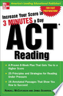 Increase Your Score In 3 Minutes A Day  ACT Reading