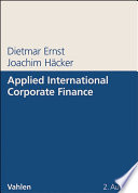 Applied International Corporate Finance