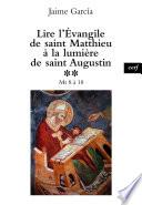 Lire l   vangile de saint Matthieu    la lumi  re de saint Augustin