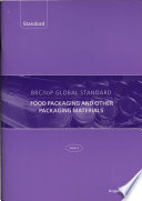 BRC/IoP Global Standard: Food Packaging and Other Packaging Materials
