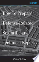 How To Prepare Defense Related Scientific and Technical Reports