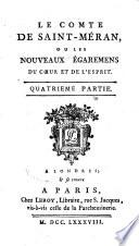 Le comte de Saint-Méran, ou les nouveaux égaremens du cœur et de l'esprit