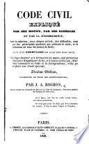 Code civil expliqu   par ses motifs  par des exemples  et par la jurisprudence     Dixi  me   dition  augment  e  etc