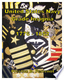 UNITED STATES NAVY GRADE INSIGNIA 1776 - 1852