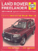 Land Rover Freelander Service And Repair Manual