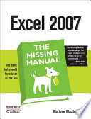 Excel 2007  The Missing Manual