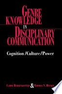 Genre Knowledge In Disciplinary Communication