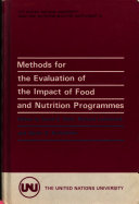 Methods for the Evaluation of the Impact of Food and Nutrition Programmes