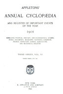Appletons  Annual Cyclopedia and Register of Important Events