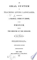 An Oral System of Teaching Living Languages