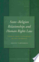 illustration State-Religion Relationships and Human Rights Law, Towards a Right to Religiously Neutral Governance