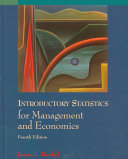 Introductory Statistics for Management and Economics Book PDF