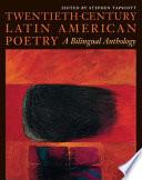 Twentieth Century Latin American Poetry