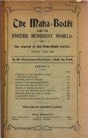 The Maha Bodhi and the United Buddhist World