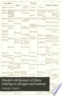Haydn s Dictionary of Dates Relating to All Ages and Nations