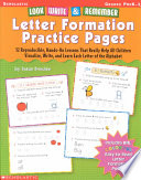 Look  Write   Remember Letter Formation Practice Pages
