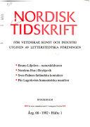 Nordisk tidskrift för vetenskap, konst och industri