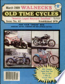 WALNECK S CLASSIC CYCLE TRADER  MARCH 1989