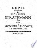 Copie d une lettre     ecrite a Monseigneur le comte de Mansfeld  Ratisbonne 12  Nov  1680