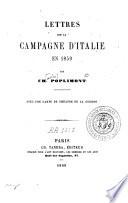 Lettres sur la campagne d'Italie en 1859
