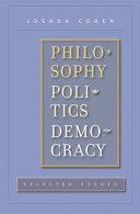 Philosophy, Politics, Democracy