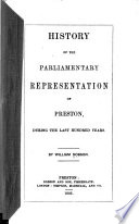History Of The Parliamentary Representation Of Preston