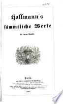 Hoffmann s S  mmtliche Werke