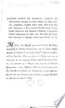 Joseph par la gr  ce de Dieu Empereur des Romains  etc   Letters Patent appointing Count F  de Trauttmansdorff Minister Plenipotentiary to the States of Flanders  11 Oct  1787  Preceded by a Circular Letter from the Count de Murray