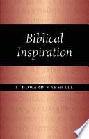 Biblical Inspiration