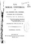 download ebook la moral universal ó los deberes del hombre fundados en su naturaleza pdf epub