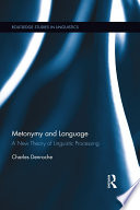 Metonymy and Language