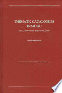 Thematic Catalogues in Music