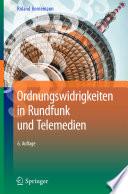 Ordnungswidrigkeiten in Rundfunk und Telemedien