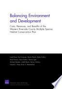 Balancing Environment and Development