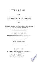 Travels On The Continent Of Europe