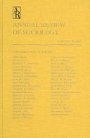 Annual Review of Sociology