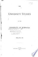University Studies of the University of Nebraska