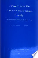 Proceedings  American Philosophical Society  vol  139  No  2  1995