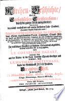 Kirchen-Geschichte. - Wienn (usw.), Buggel & Seitz 1727