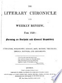The Literary chronicle and weekly review