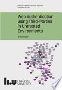 Web Authentication using Third Parties in Untrusted Environments